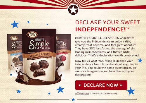 HersheySimplePleasure Im Declaring my Sweet Independence #hsysimplepleasures