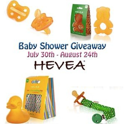HeveaButton Hevea Giveaway #babyshower
