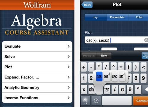 WolframAlgebraAsst GP Six Terrific Educational iOS Apps for K Through 12