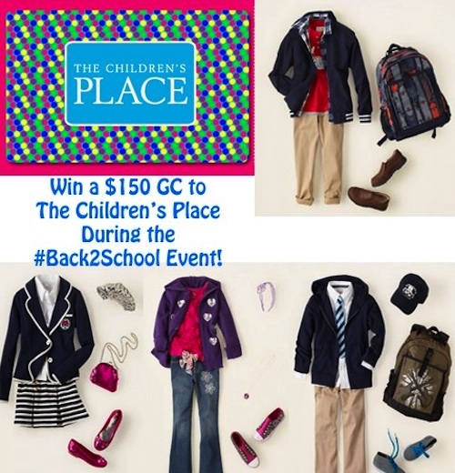 ChildrensPlace150Giveaway $150 Childrens Place GC Giveaway #back2school