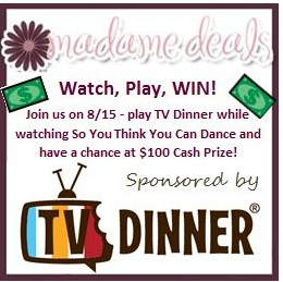 TVDinnerButton TV Dinner, So You Think You Can Dance, & a $100 Cash Prize