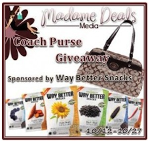 CoachPurseGA Way Better Snacks are Way Better & a Coach Purse Giveaway