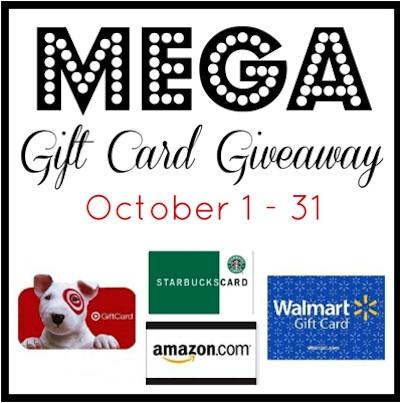 OctoberMegaGCGiveaway October Mega Gift Card Giveaway   3 Winners