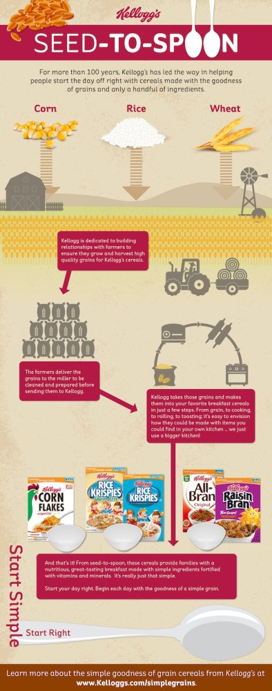 SeedtoSpoonInfographic Start Simple, Start Right... with Kelloggs Seed to Spoon