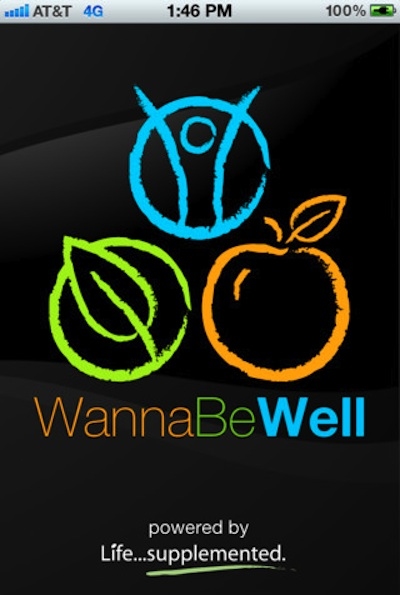WannaBeWellApp1 Life... Supplemented WannaBeWell iPhone App @WannaBeWell