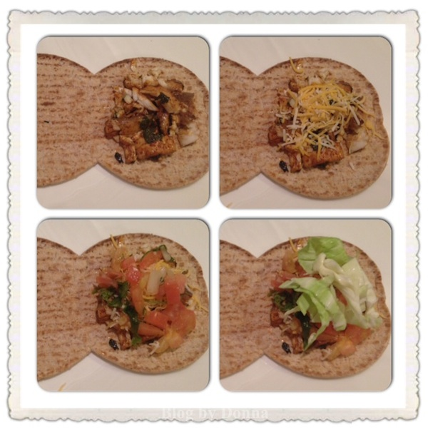 AssemblingFishTacoFlatbread Hungry Girl FoldIt Flatout Flatbread Hot Sandwich & Cold Sandwich Recipe #FlatoutHot