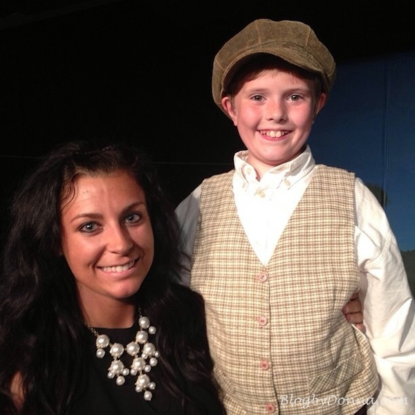 """Cody's teacher came and saw him perform as Caleb in """"Sarah Plain and Tall"""" closing weekend"""