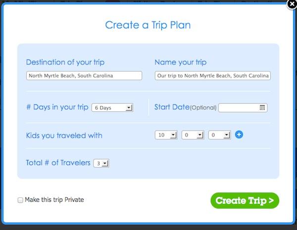 Create Trip Plan on MiniTime