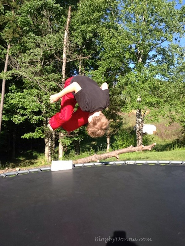 One of your favorite things to do is to jump on the trampoline.