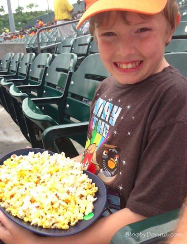 Taking in a Smokies baseball game!