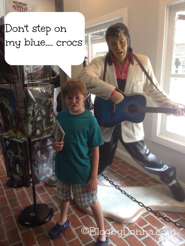 North Myrtle Beach 2013 Blue Croc Shoes 1