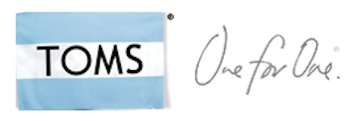 TOMS One for One Campaign Logo