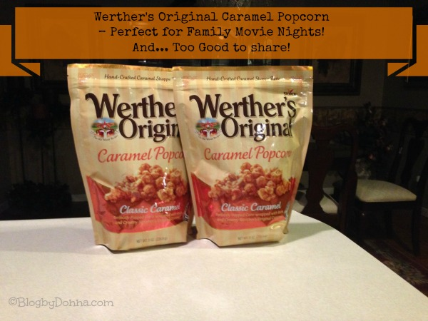 Werther's Original Caramel popcorn great snack for family movie night