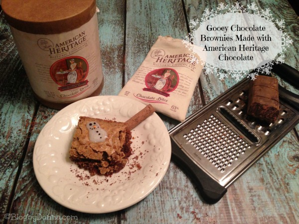American Heritage Chocolate for Brownies Homemade Gooey Chocolate Brownies with American Heritage Chocolate #sponsored #MC