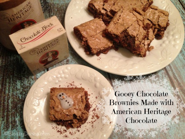 American Heritage Codys Chocolate Brownie  Homemade Gooey Chocolate Brownies with American Heritage Chocolate #sponsored #MC