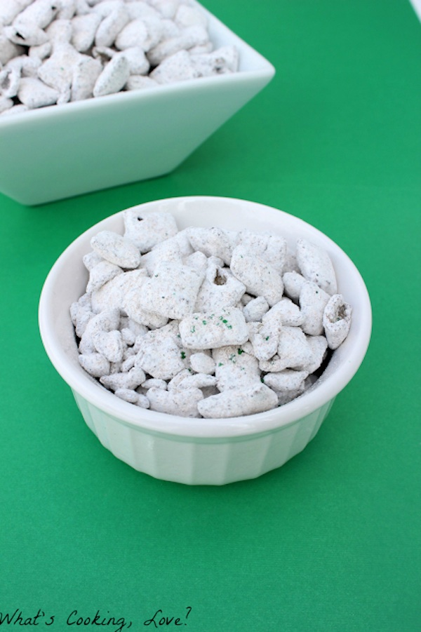 Andes muddy buddies via What's cooking, love?