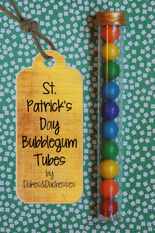 St. Patrick's Day bubblegum tube via dukes&dutchesses