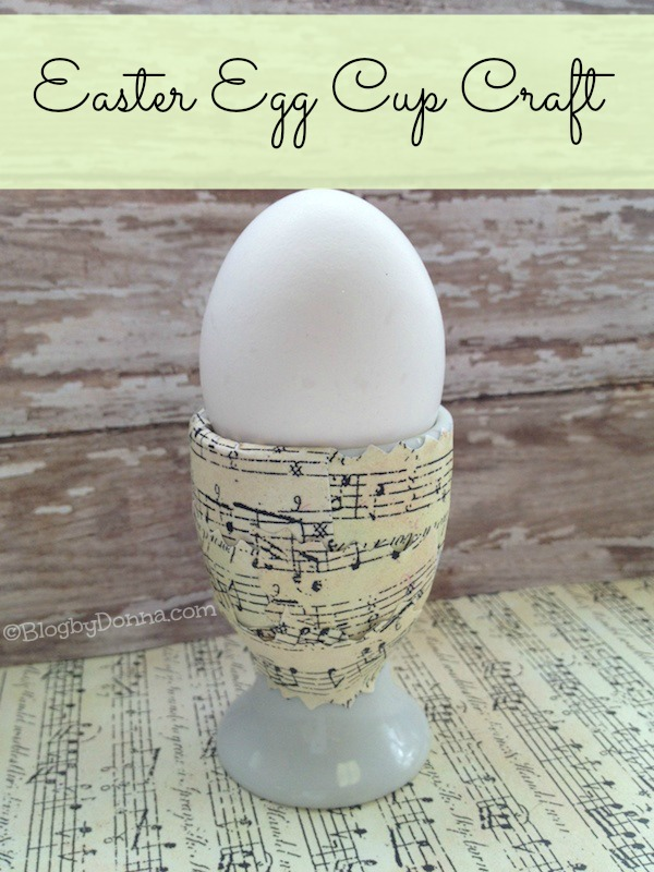 DIY Easter Craft Egg Cup using Scrap Paper blogbydonna.com