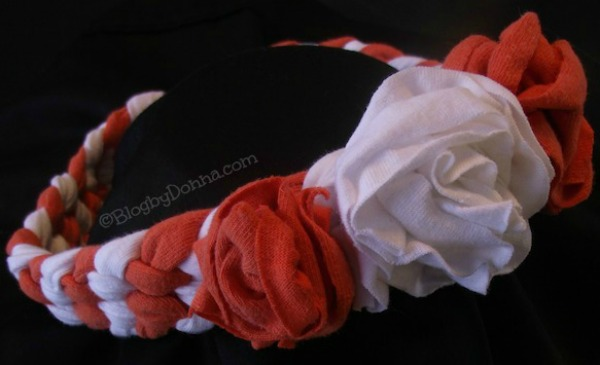 orange and white finished headband 2