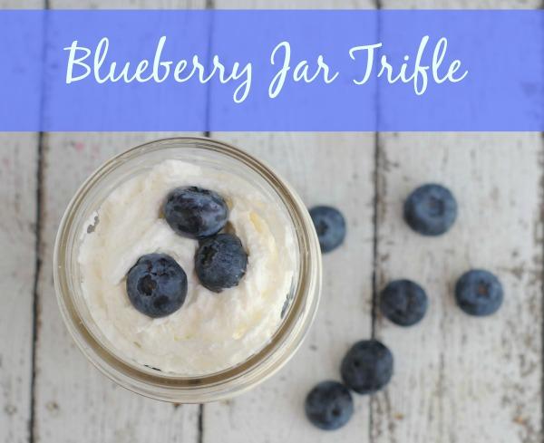 Blueberry jar trifle #recipe via Blog by Donna