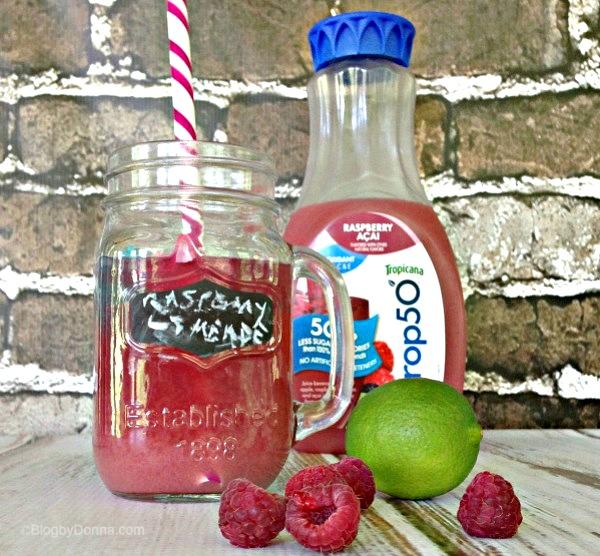 Trop50 Raspberry Acai Limeade recipe for girls' night in #girlsnightin
