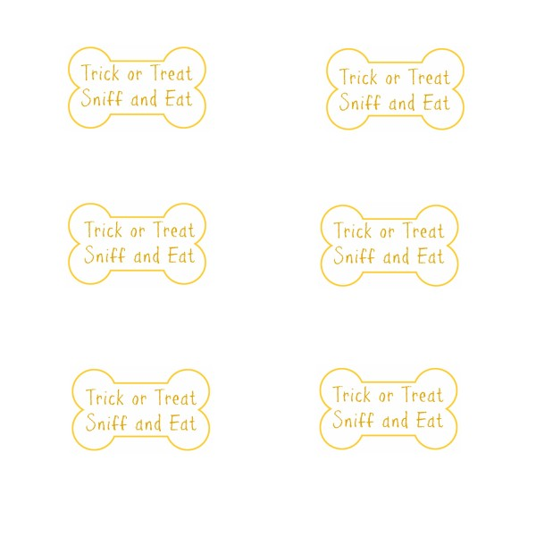Dog Treat Tag Printable #collectivebias #TrickorTreatEm