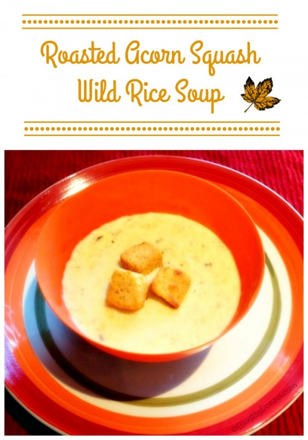 Roasted Acorn Squash Wild Rice Soup Recipe perfect for Fall!