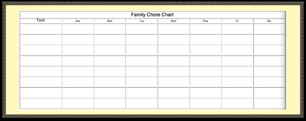 Blank Family Chore Chart #instaclean #cbias #shop