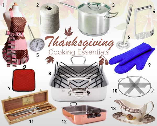 13 Must Have Thanksgiving Cooking Essentials