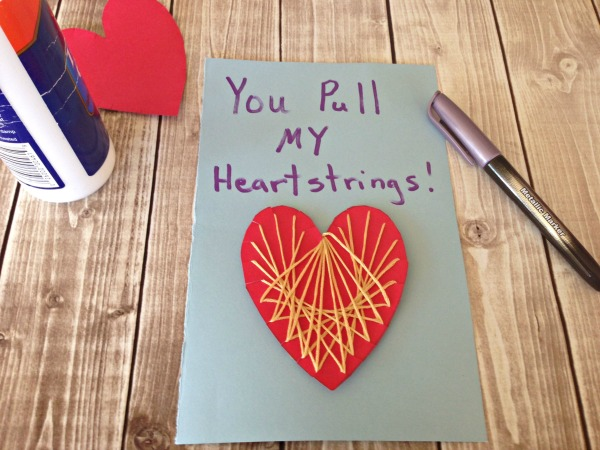 String HEART Craft Tutorial 8 Make Card