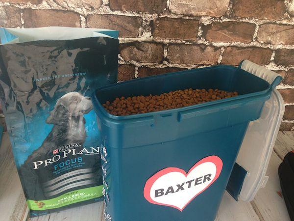 Baxter's Food Storage and Purina Pro Plan #ProPlanPet
