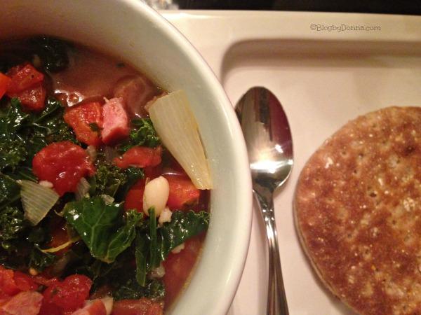 smoked sausage kale white bean soup recipe #HillshireSausage
