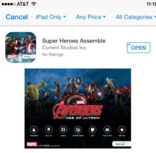 Super Heroes Assemble on App Store