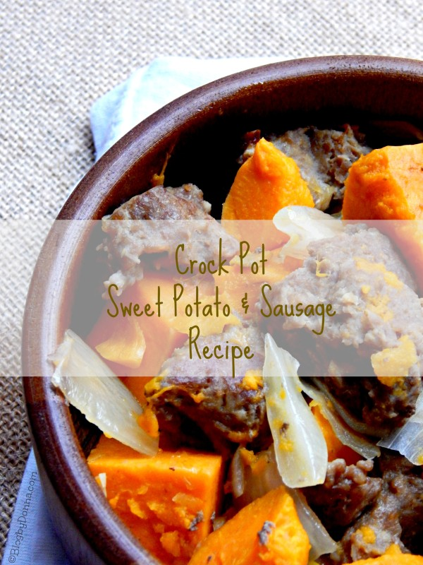 one pot slow cooker sweet potato and sausage recipe