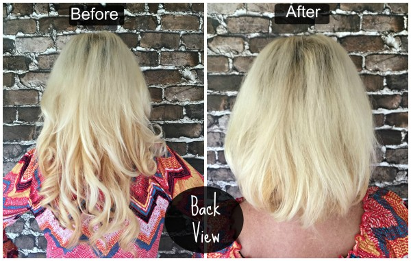 Before and After Faux Bob Back View #StyleItYourself