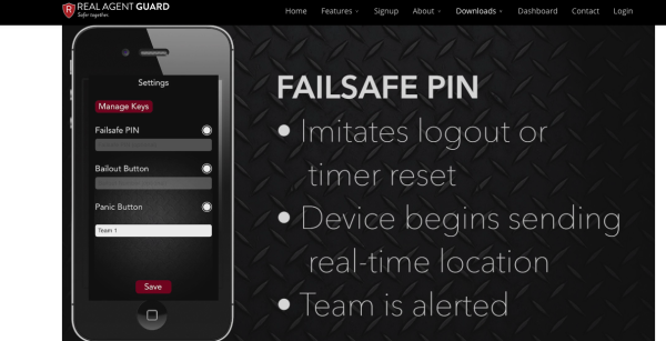 ScreenShot of Real Agent Guard App Failsafe
