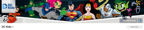 DC Kids YouTube Channel Graphic