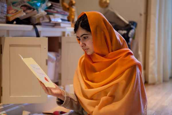 HE NAMED ME MALALA: Malala Yousafzai in Birmingham, England. Dec 17, 2013. Photo by Caroline Furneaux. © 2015 Twentieth Century Fox Film Corporation All Rights Reserved