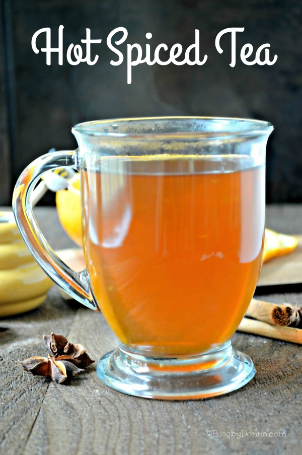 hot spiced tea with cinnamon honey star anise orange peel