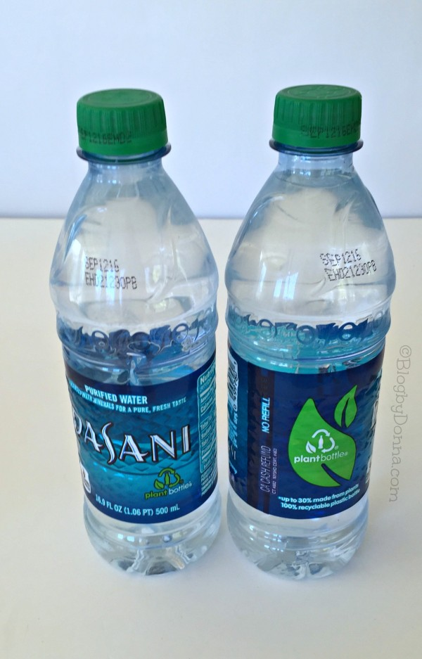 Dasani Water PlantBottle packaging #GreenBottleCap
