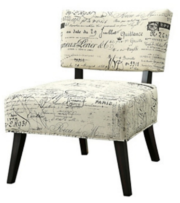 Script Accent Chair from quill.com home office