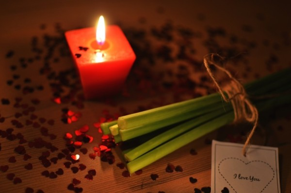 set the romantic mood with candles