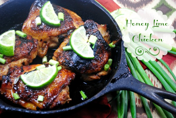 Honey Lime Chicken Recipe iron skillet
