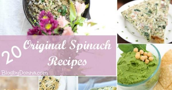 20 Original Spinach Recipes Roundup