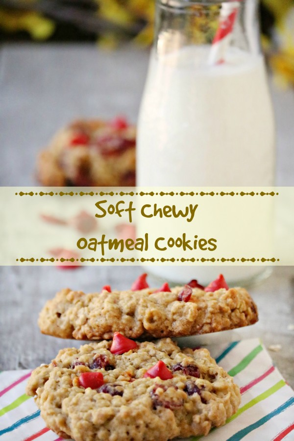 soft chewy oatmeal cookies recip