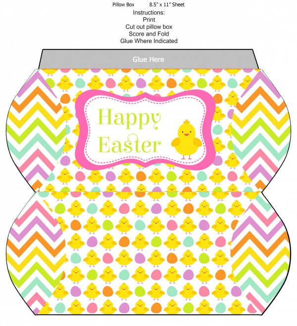 Free Easter Pillow Box Printable
