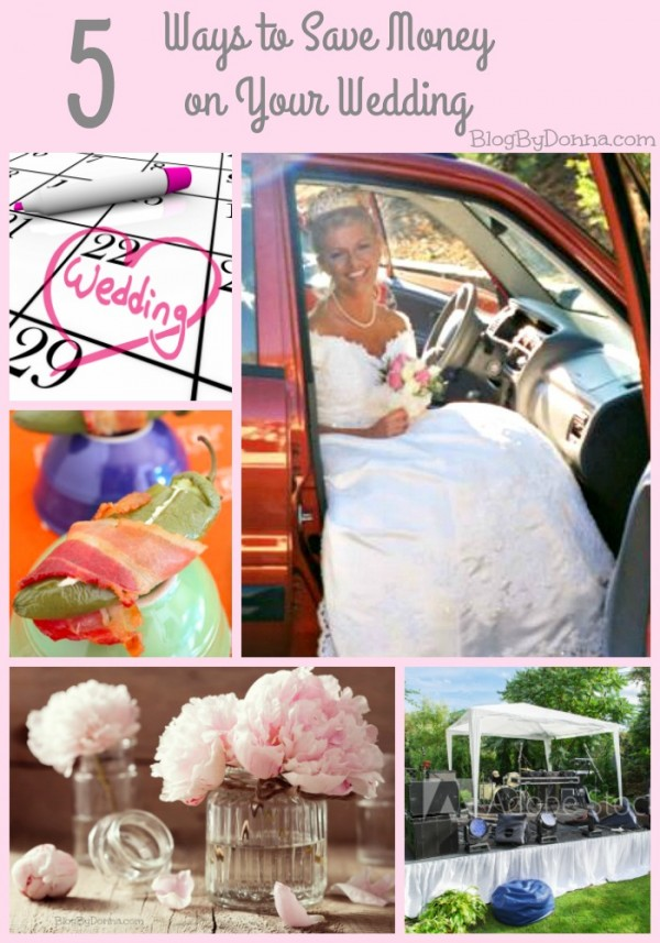 Ways to save money on your wedding day.