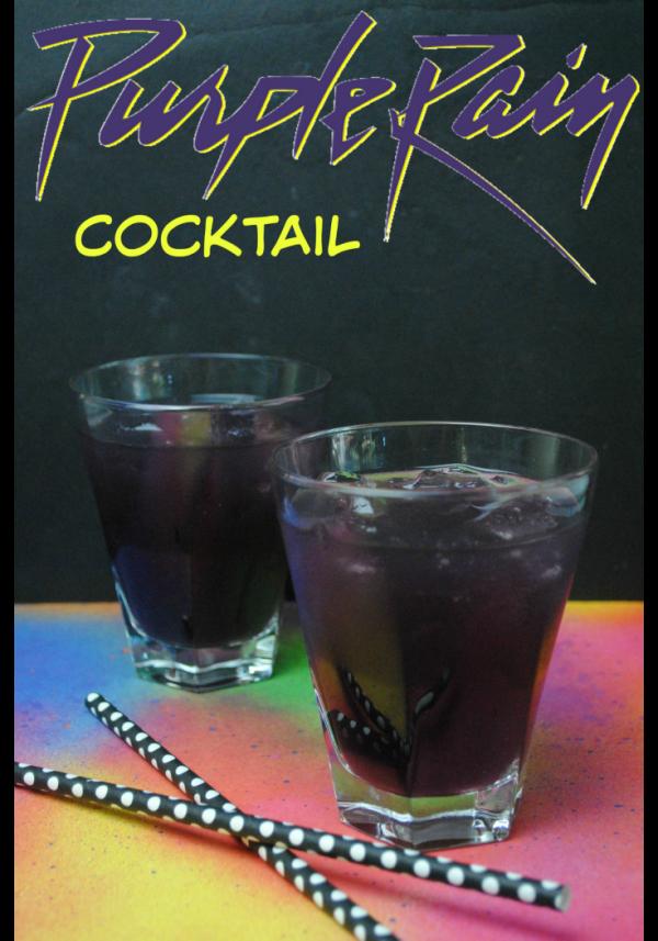 Purple Rain Cocktail to celebrate Prince