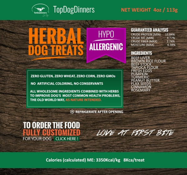 TopDogDinners hypoallerginic dog treats