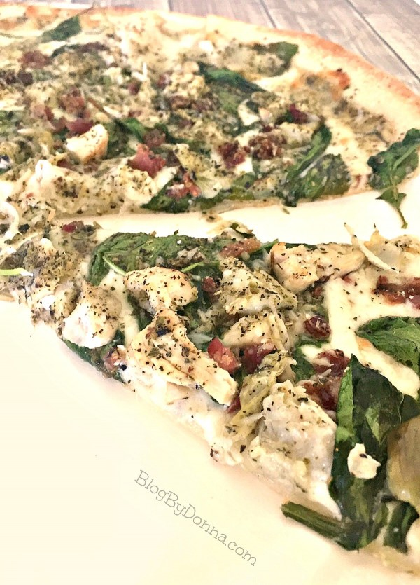 pizza with chicken raised without antibiotics